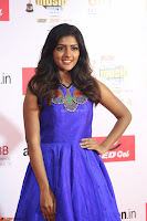 Eesha in Cute Blue Sleevelss Short Frock at Mirchi Music Awards South 2017 ~  Exclusive Celebrities Galleries 003.JPG