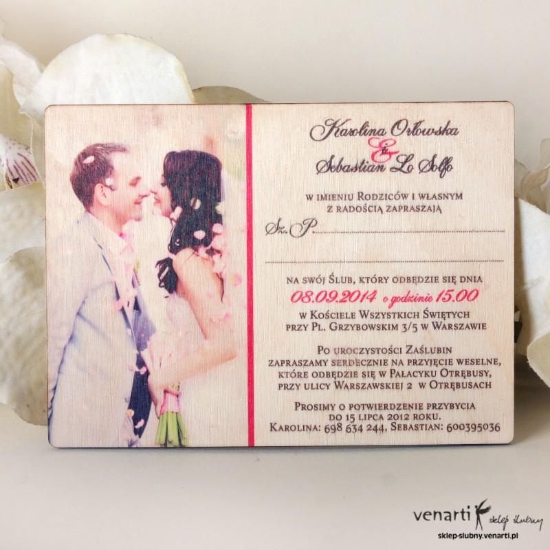 Naklejka Inicjały Pary Młodej Venarti Sklep ślubny Zaproszenia ślubne