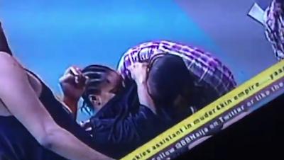 #BBNAija: Watch Bally sucks Ese's b**bs, while TBoss and Jon Kiss Passionately