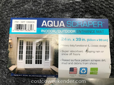Costco 1066636 - Apache Mills Aqua Scraper Half Round Indoor/Outdoor Entrance Mat: buy one for each doorway into your home
