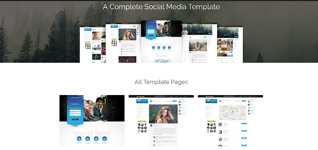 Social Network Theme For Blogger