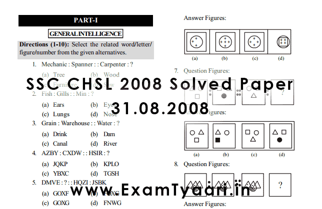 Ssc Solved Question Papers Pdf