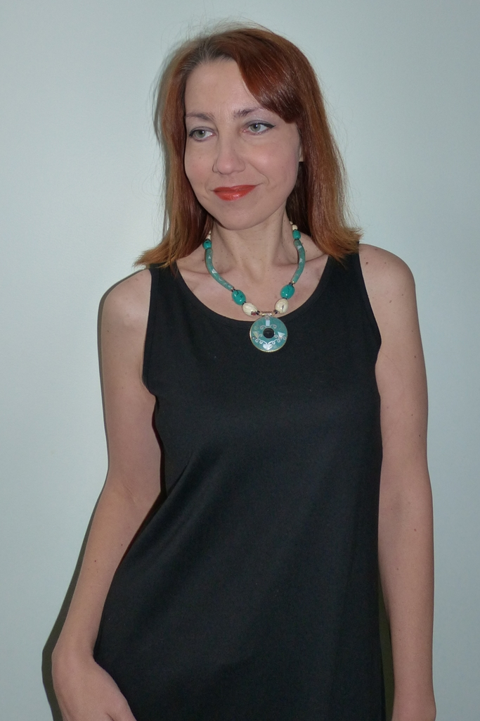 Tibetan style turquoise necklace