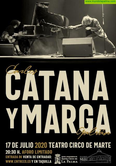 El Teatro Circo de Marte reabre sus puertas con un espectáculo musical y poético de Carlos Catana y Margarita Ramos