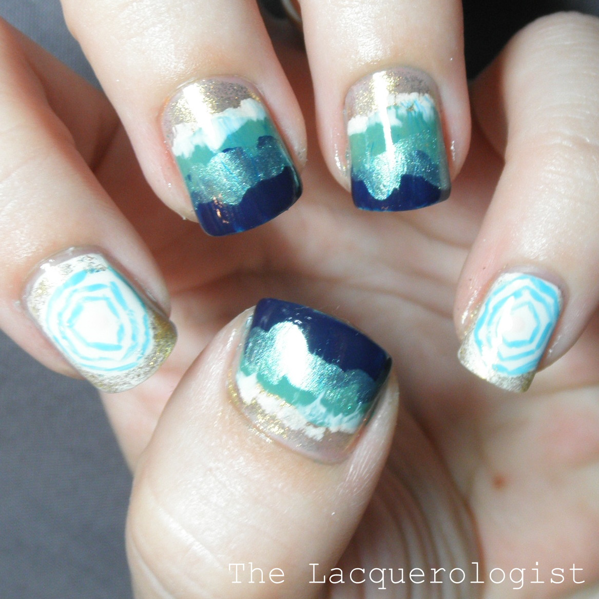 Beach Nail Art Week: Aerial Beach View! • Casual Contrast