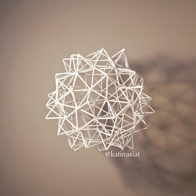 himmeli, pillihimmeli, circular, himmeli ball modern himmeli geometric