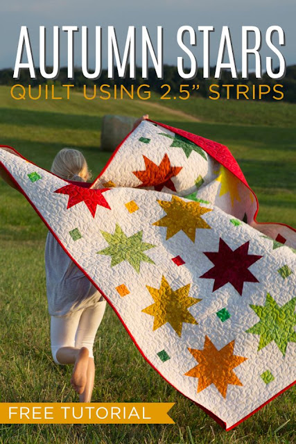 Autumn Stars free quilt tutorial