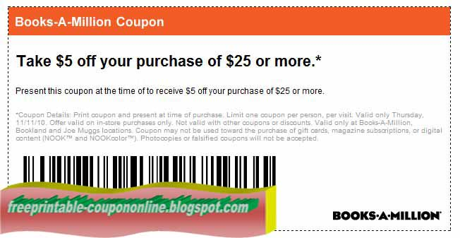 Books a million coupons june 2018