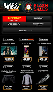 Jumia Black Friday Festival Day 9 Deals 21th November 2017