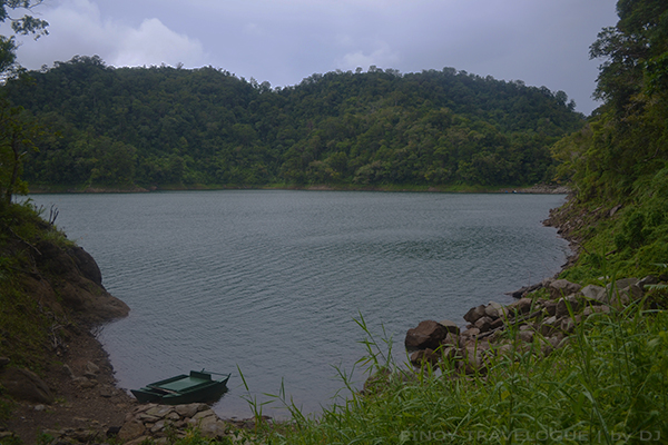Paddle boat docked at Lake Balinsasayao