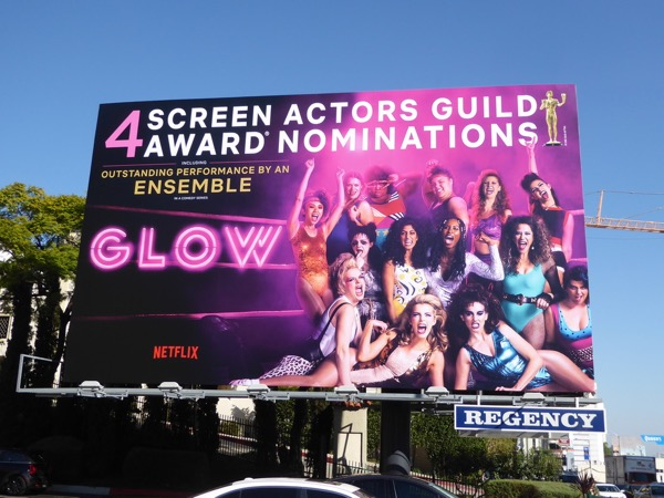 GLOW season 1 SAG Award nominee billboard