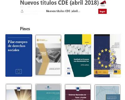 Nuevos documentos en abril en el CDE
