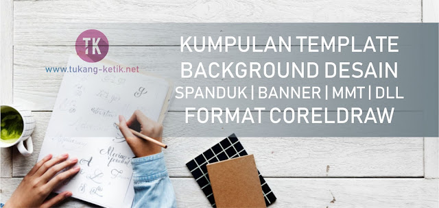 download background spanduk cdr
