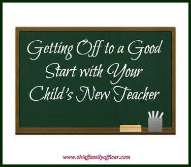 Good Start with New Teacher - chieffamilyofficer.com