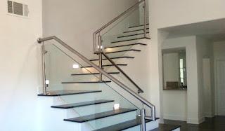 Jual Railing Tangga Kaca Minimalis Trenggalek Balkon Per Meter