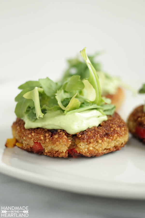 make these quinoa patties for an easy vegetarian dinner