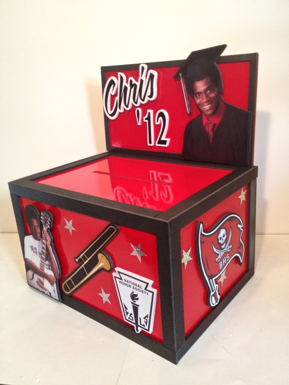 Musing With Marlyss Graduation Centerpiece Gift Card Box