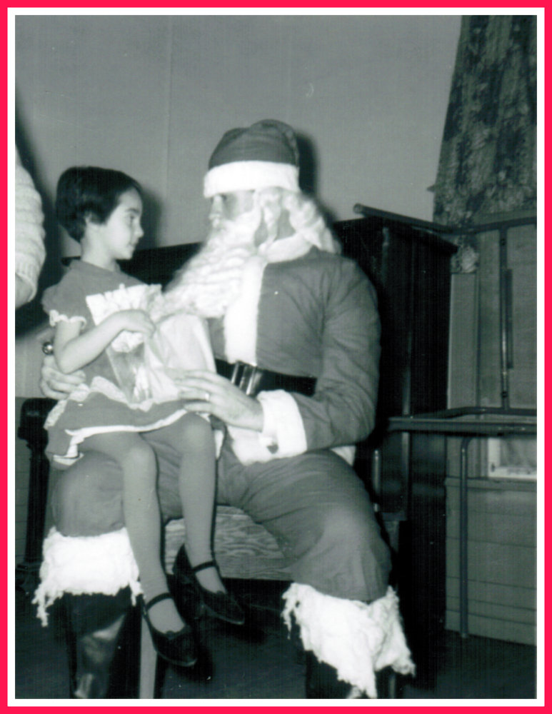 Yvonne with Santa Claus 1963