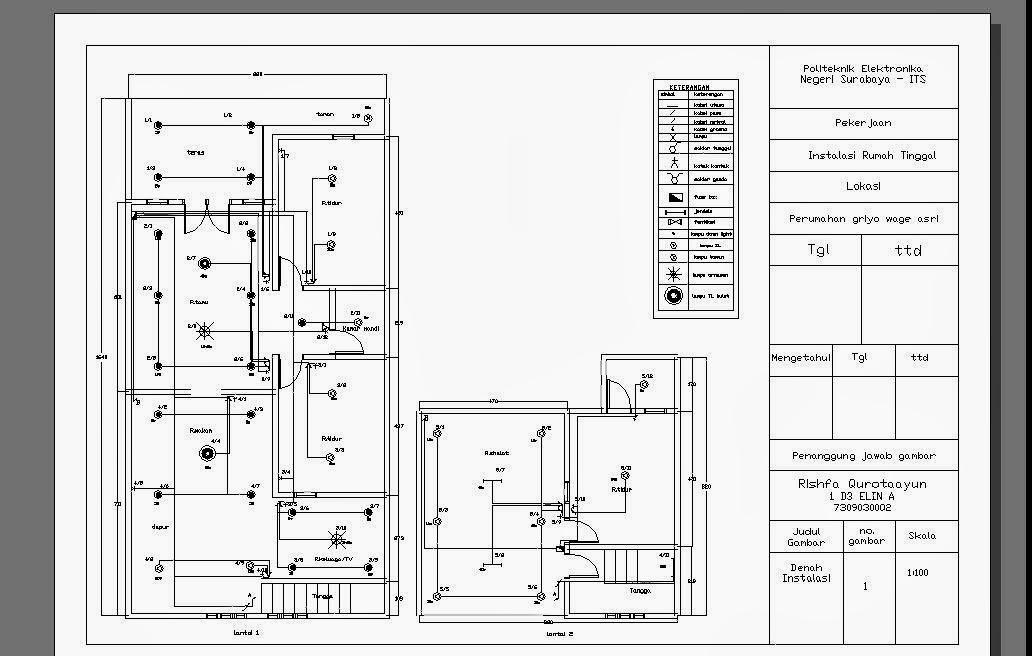 wiring diagram rumah sederhana