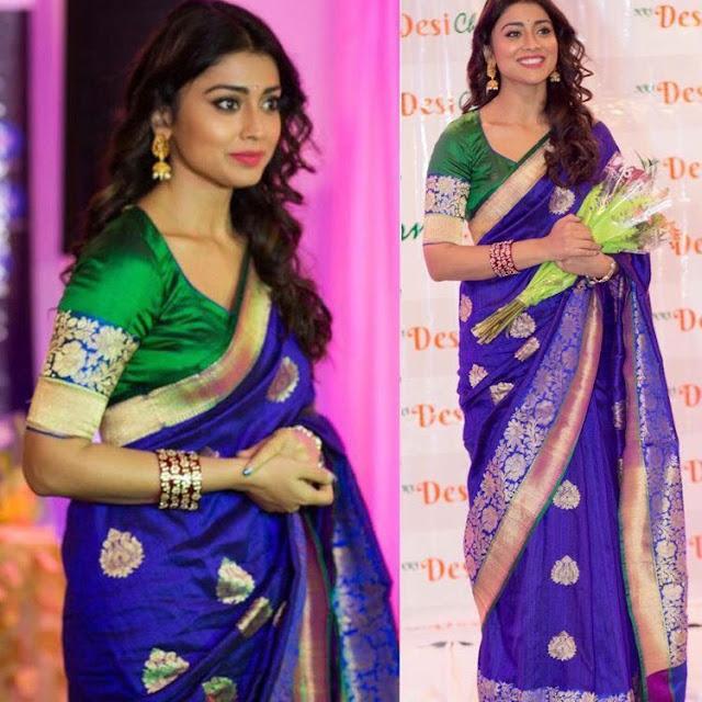 Shriya Blue Benras Saree