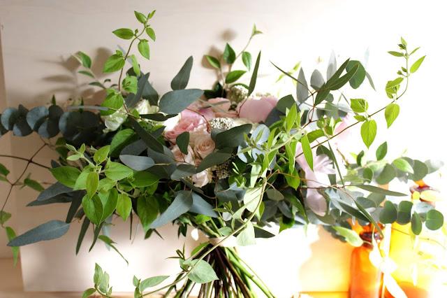 Bouquet de mariée romantique, fleuriste mariage Lyon