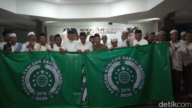 Barisan Kiai dan Santri Nahdliyin Deklarasi Dukung Prabowo-Sandi