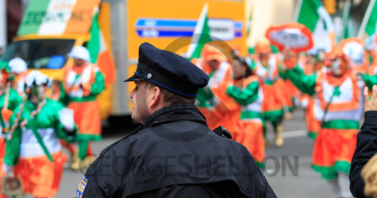 Philly Police Officer at Mummers Parade