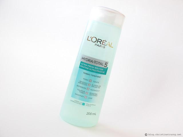 L'Oreal Paris Skin Care Expert Hydra Total-5 Ultra-Fresh Ritual Toner Review Influenster