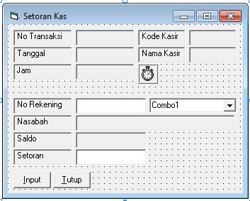Source Coding Program Bank Lengkap Di Visual Basic 6.0