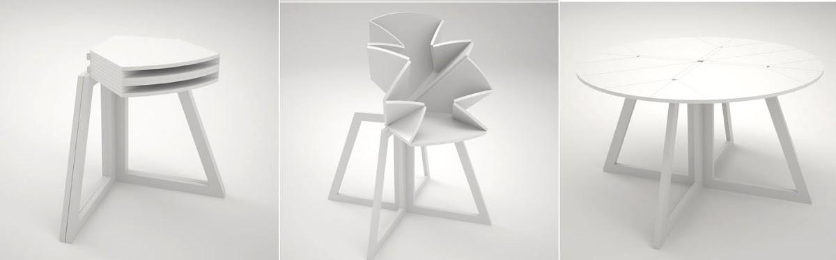 Cinco ejemplos de muebles transformables espacios en madera for Muebles transformables