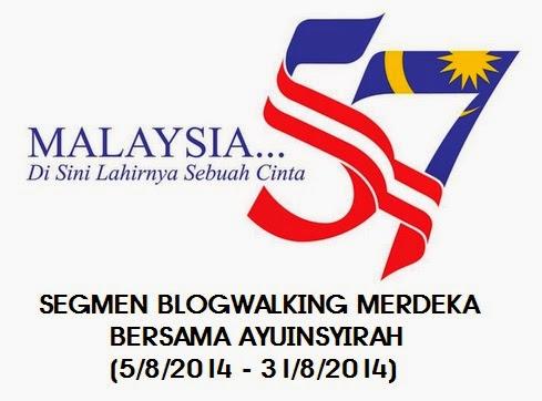 Segmen Blogwalking MERDEKA Bersama Ayuinsyirah