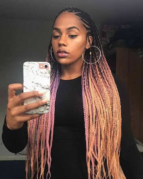 Trendy Statement Braided And Prom Hairstyles For Ghanaian