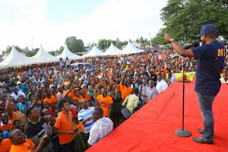 Kilifi Governor Amason Kingi in a Madaraka day rally in kilifi. PHOTO | AJK