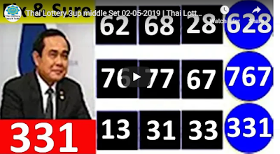 Thailand lottery hundred percent sure number 01 May 2019