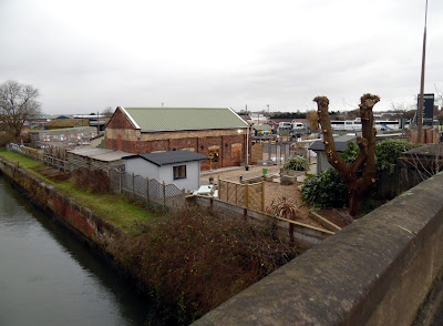 A January 2019 Brigg Blog picture taken from the Cake Mills Bridge and showing Earnshaws Fencing Centre