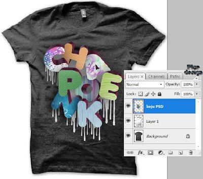 Cara Membuat Desain Baju Di Photoshop   Tutorial Photoshop ...