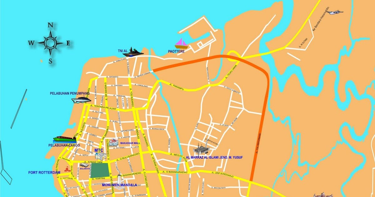 Peta Kota: Peta Kota Makassar