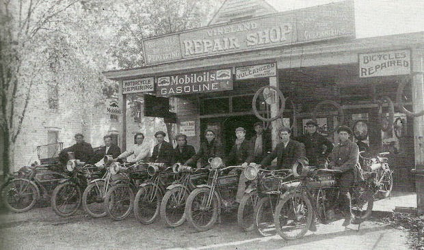 Vintage Photos Of Motorcycles And Their Riders In New