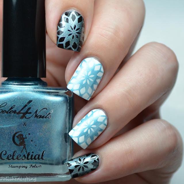 blue stamping polish