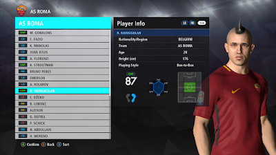 PES 2018 Player Stats by Fast Eagle for PES 2017 PTE Patch 2017