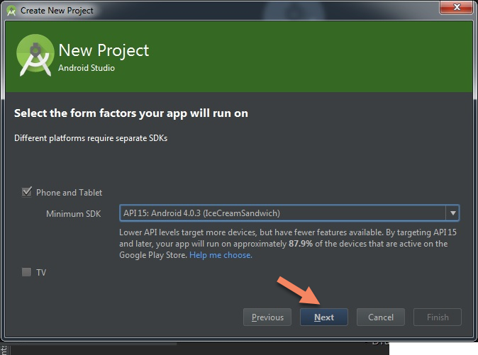 Choose Android SDK On Android Studio