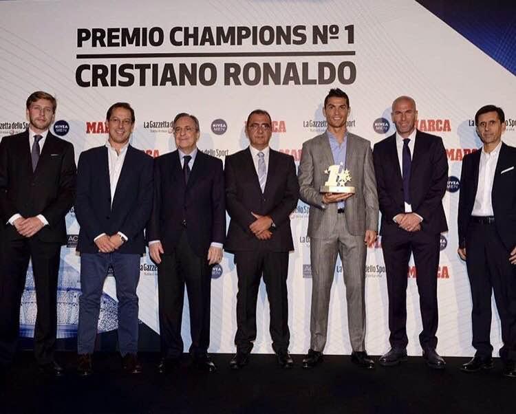 Cristiano Ronaldo Wins Champions League Best Player Award