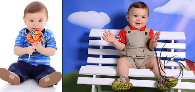 fotos de bebes em estudio