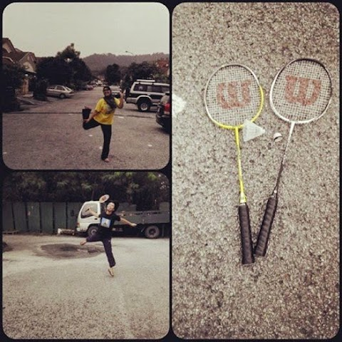 Main badminton sampai barai shuttle cock!