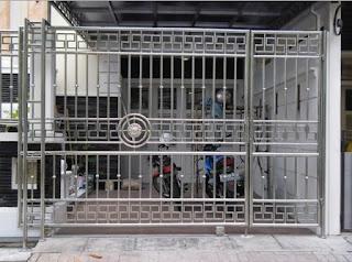 Motif Desain Model Gambar Pagar Stainless Steel Minimalis Untuk Rumah, Terbaru