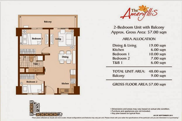 The Amaryllis 2 Bedroom Unit 57.00 sqm