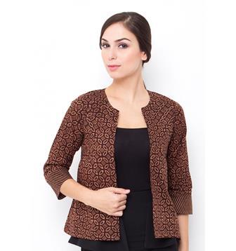 Model Bolero Batik Lengan Panjang Modis