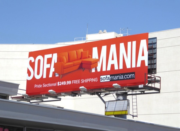 Sofamania Pride sectional billboard