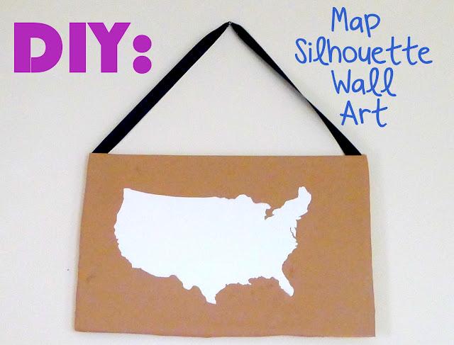 DIY: Map Silhouette Wall Art Tutorial