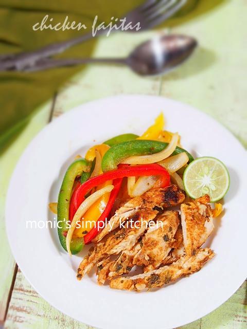 resep chicken fajitas mudah